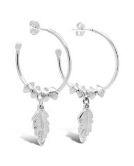Silver Hoop Earrings/Le Sapphire